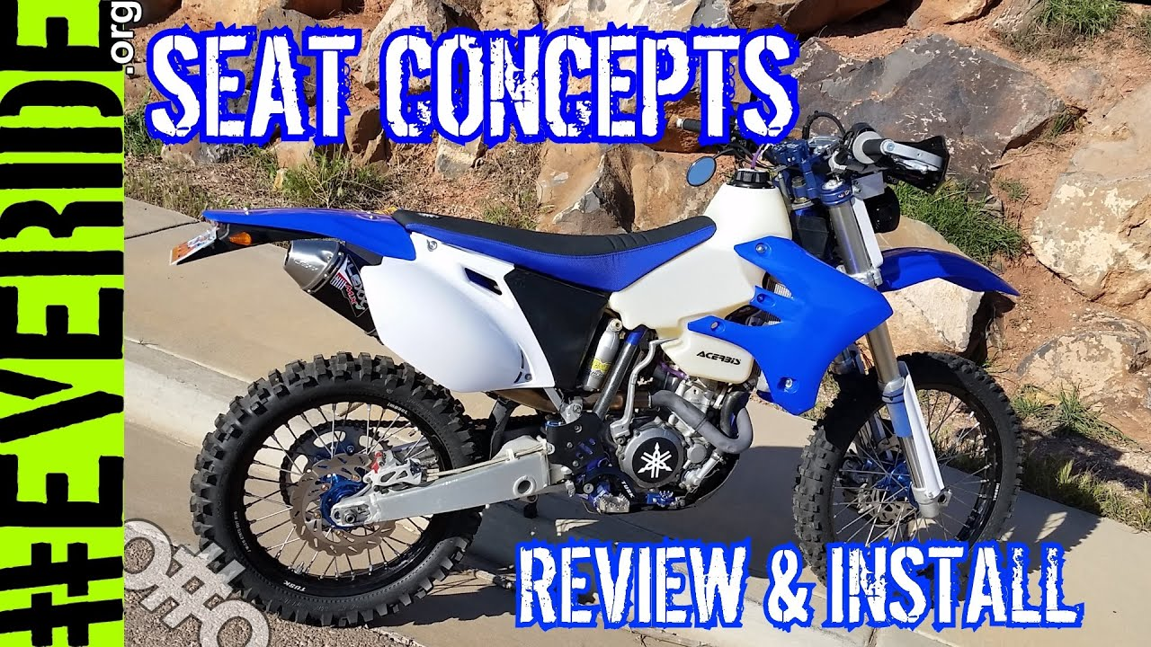 SEAT CONCEPTS Hard to Install? REVIEW - KLR 650, DRZ 400, WR250F o#o
