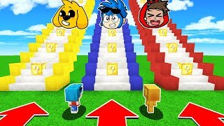 NO ELIJAS LA ESCALERA DE LUCKY BLOCKS INCORRECTA 😱 EN MINECRAFT