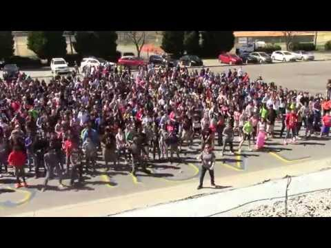 Quail Hollow Middle School Let's Move! #gimmefivedance #gimmefive