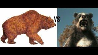Короткомордый медведь против пещерного медведя