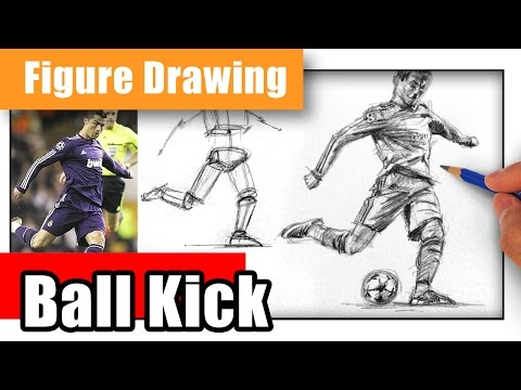 How To Draw A Cristiano Ronaldo Kicking - Figure In Motion