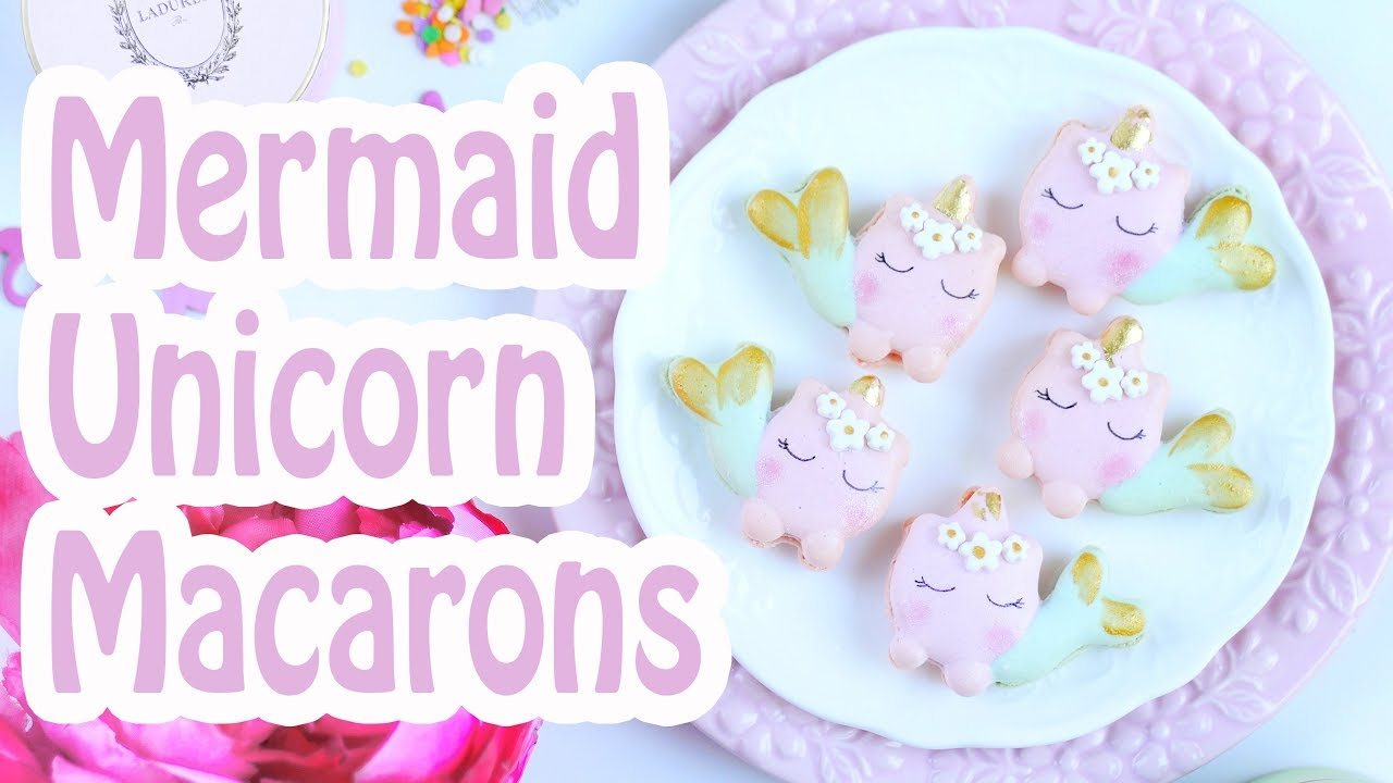 60 Second Macaron Magic Mermaid Unicorn Macarons