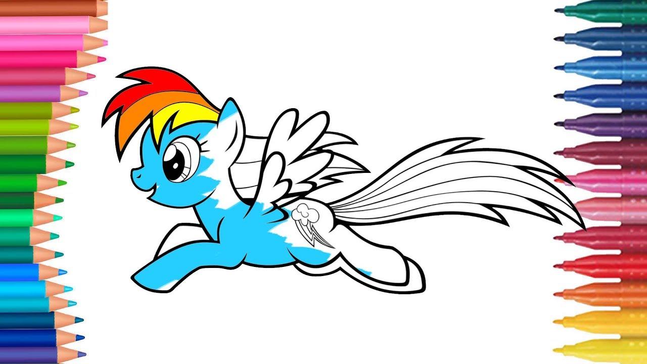 My Little Pony Rainbow Dash çizgi Film Karakteri Boyama Sayfası