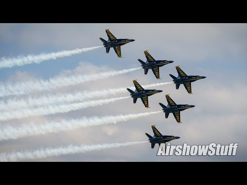 US Navy Blue Angels High Show Practice (No Music) - Spirit of St Louis Airshow 2016