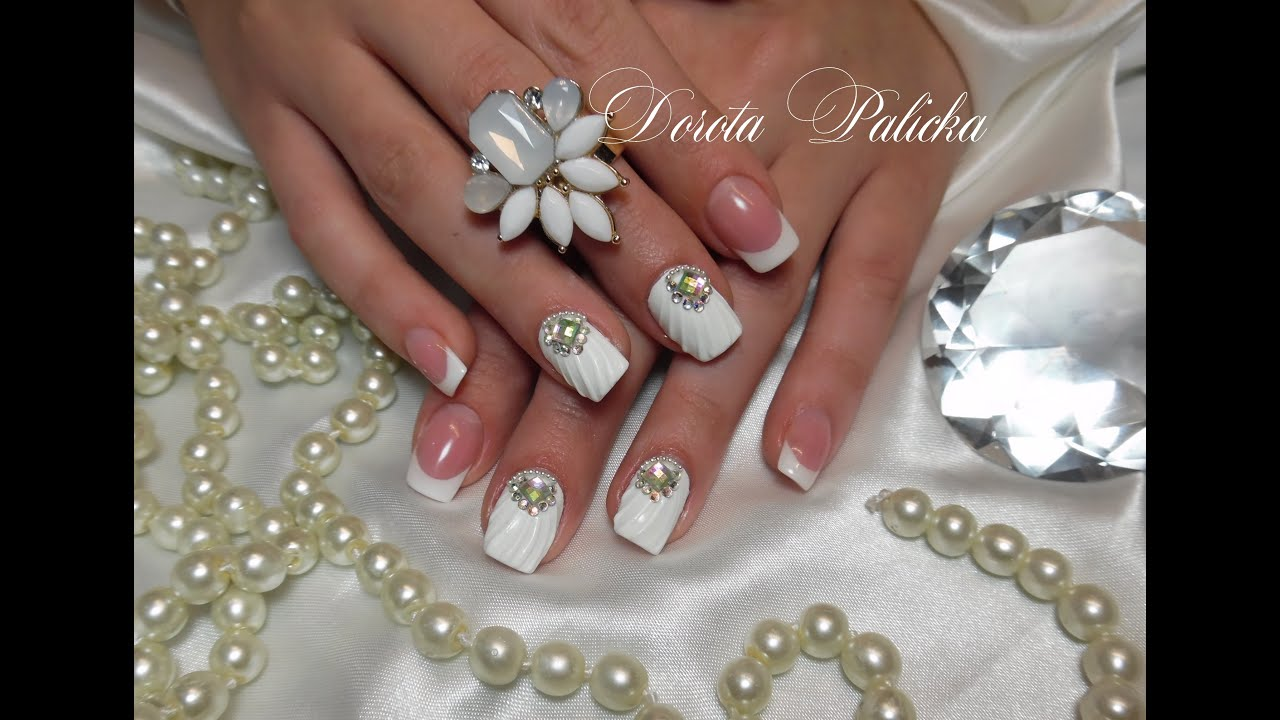 Shell Manicure With Gel 3d Design Wedding Nails Nails Like Shell Muszelka Na Paznokciu