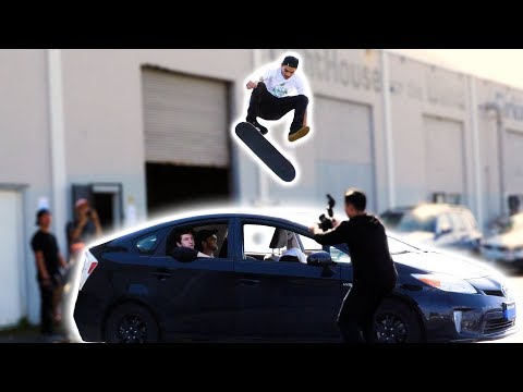 360 FLIP OVER AARON KYRO'S CAR!?