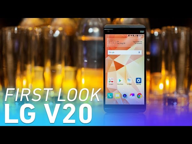LG's V20 is an Android phone built for audiophiles and power