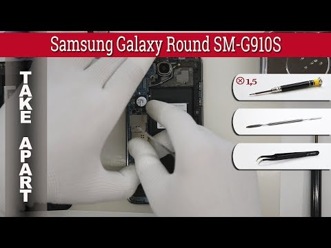 How to disassemble 📱 Samsung Galaxy Round SM-G910S Take apart Tutorial