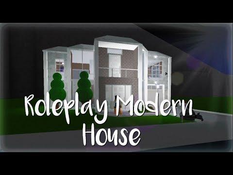 Bloxburg Roleplay Modern House 48k Youtube