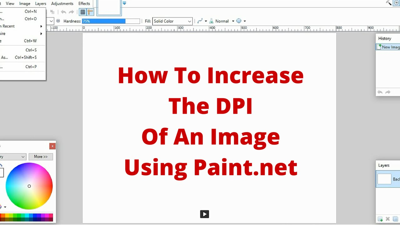 How To Change A Picture To  Dpi In Paint