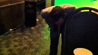 Drunk Uncle bryn spewing in Liverpool