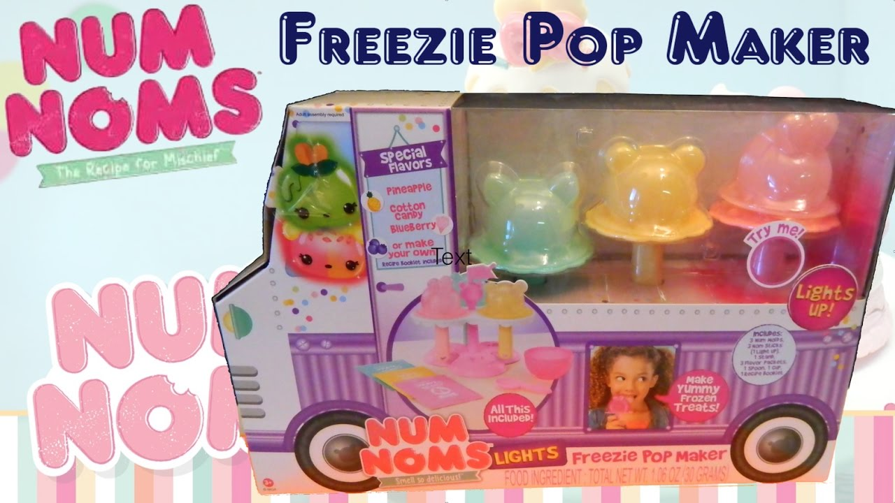 Num Noms Lights Freezie Pop Maker - YouTube