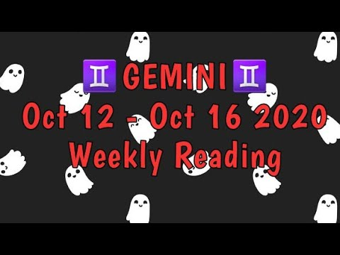 ♊ Gemini 🦋 Someones going to be honest about how they feel. 😯 October 12 - 16 2020 tarot reading