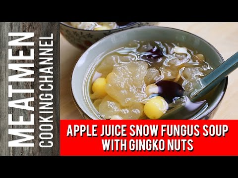 Apple Juice Snow Fungus Soup With Gingko Nuts