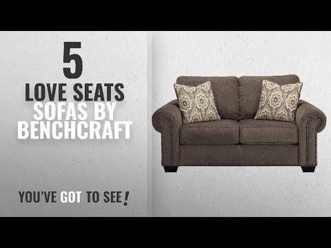 Top 5 Benchcraft Love Seats Sofas [2018]: Benchcraft 4560035 Emelen Loveseat, Alloy