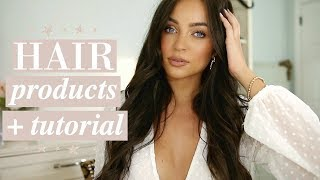 Current Favorite Hair Products + Lived-In Waves Tutorial