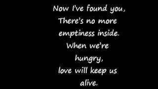 The Eagles- Love Will Keep Us Alive lyrics