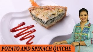 Potato And Spinach Quiche - Mrs Vahchef