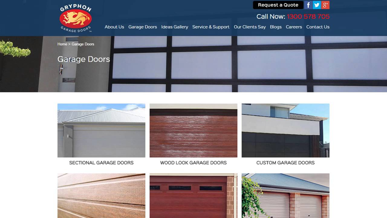 Gryphon Garage Doors Website Preview  sc 1 st  YouTube & Gryphon Garage Doors Website Preview - YouTube