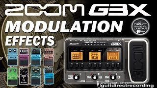 ZOOM G3 MODULATION - All Effects - Chorus, phaser, flanger, pitch...