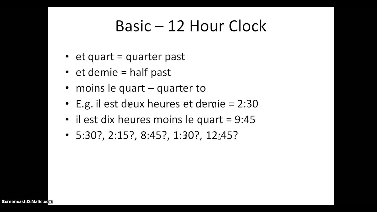 what is the french word for clock - best clock 2017