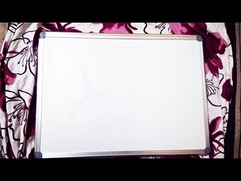 White Star WDS1.5x2 Non Magnetic Melamine Small Whiteboard Unboxing