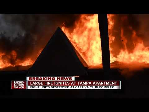 Good Samaritan kicks in doors, saves residents as Tampa apartment complex goes up in flames