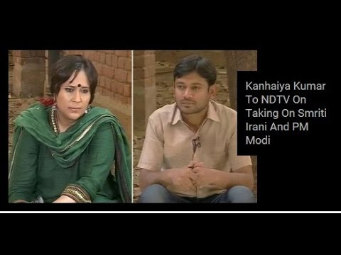 Exclusive conversation with NDTV's Barkha Dutt,Kanhaiya Kumar Taking On Smriti Irani And PM Modi
