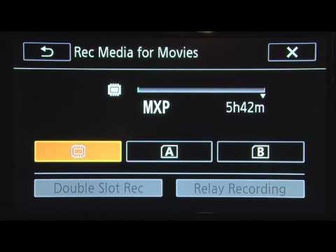 Canon HF G20 Media Destination