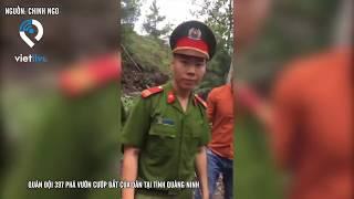 Quân đội 397 phá vườn cướp đất của dân tại Tỉnh Quảng Ninh