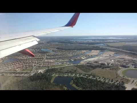 Landing in Orlando International Airport