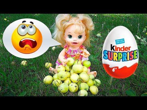 Кукла Пупсик Находит Яйцо Киндер Сюрприз по Деревом Игрушки Мультик Для девочек