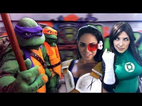 Dallas Comic Con 2014 Teenage Mutant Ninja Turtles NINJA RAP Cosplay MV Ft. Black Nerd Comedy TMNT