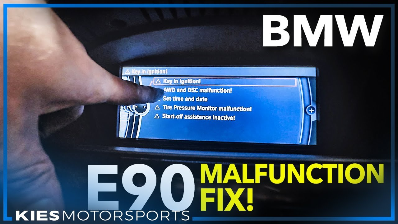 How to Fix the BMW E60 / E90 AWD and DSC Malfunction    Caused by  Disconnecting your Battery