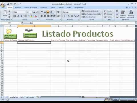 subiendo los datos del inventario a factura excel pro 2011 usando - formato inventario en excel