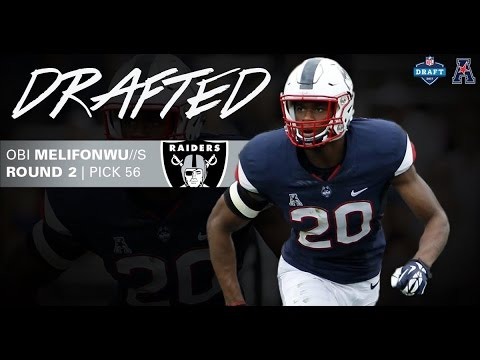 85ad4ce8d ... Stitched Black Anthracite Salute to Service Player Performance Oakland  Raiders Select UConns Obi Melifonwu 56th Overall in 2017 NFL Draft ...