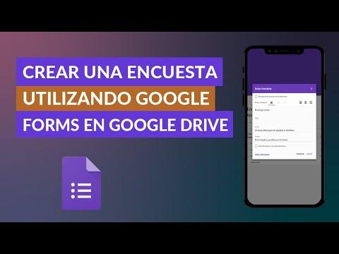 Cómo Crear o Hacer una Encuesta Gratis Utilizando Google Forms en Google Drive | Rápidamente