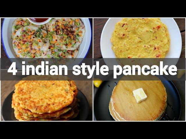 4 indian style pancake recipes | desi pancake recipes | simple indian pancake recipes