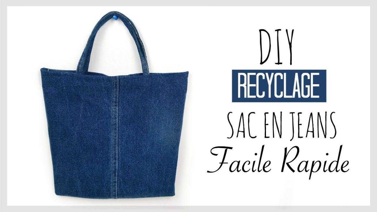 diy recyclage faire un sac avec un vieux jeans en fran ais youtube. Black Bedroom Furniture Sets. Home Design Ideas