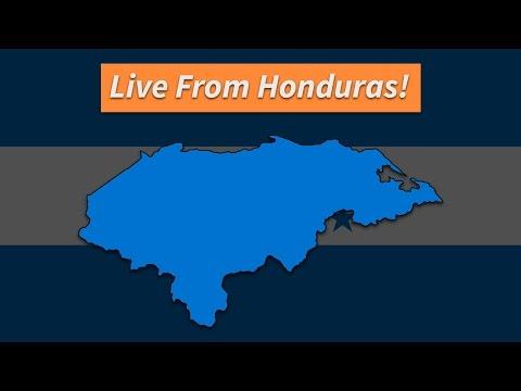 Live on the radio in Honduras!