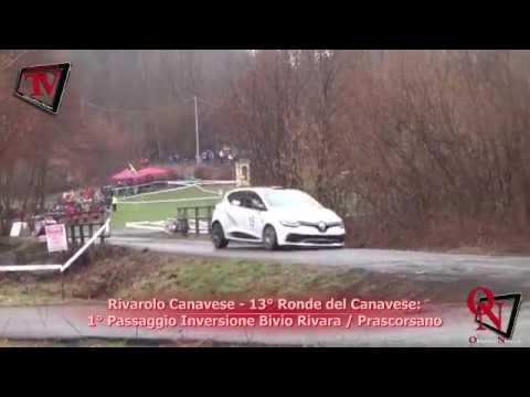 Rivarolo Canavese -  13° Ronde del Canavese: 1° Passaggio Inversione Bivio Rivara / Prascorsano