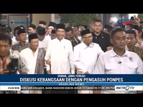 Jokowi Disambut Hangat Ponpes Girikusumo