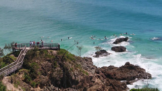 DJI Inspire 2 Drone Captures Surfers @ The Pass, ByronBay 04 03 17