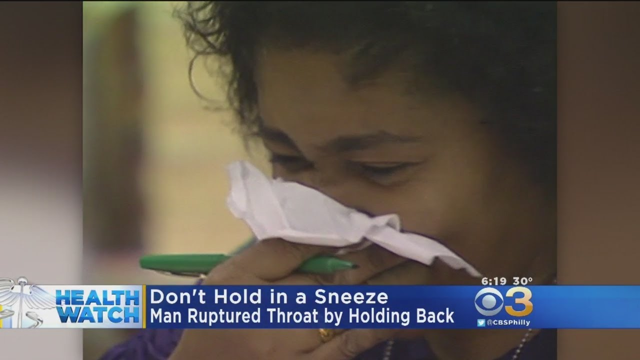 A Man Ruptured His Throat by Holding in a Sneeze