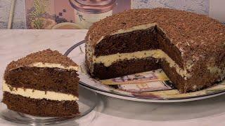 Простой Шоколадный ТОРТ крем из сгущенки Домашний торт