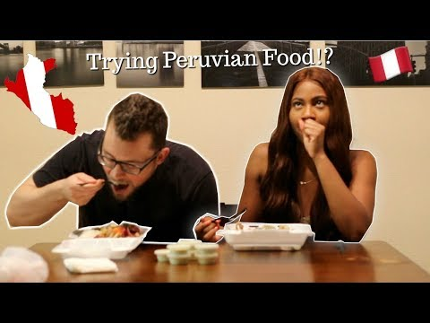 COUPLE TRIES AUTHENTIC PERUVIAN FOOD