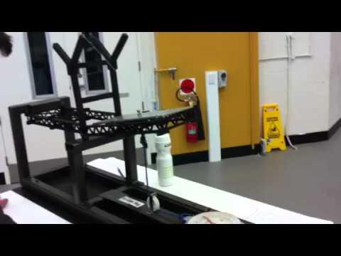 QUT ENB110 Civil Project - Model Bridge testing (part 1 of 2)
