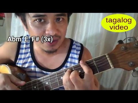 Guitar tutorial tagalog: Collide chords - capo/no capo - Howie Day
