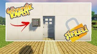 Minecraft - Şifreli Güvenlik Kapısı Nasıl Yapılır !!? - (Mod'suz ve Komut Block'suz !!)