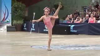 Mérédith Valéro solo twirling  benjamine n2 CHIMILIN médaillée de bronze finale de France 2019 GIEN